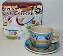 Picture of 8pce Hand Painted Cups & Saucers