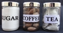 Picture of Plastic Jars Tea,Coffee,Sugar, 3pce