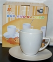 Picture of Cups & Saucers White 8pc