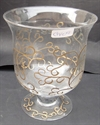 Picture of Glass Vase With Gold Decor 18x16cm